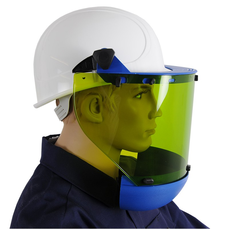 Arcflash Faceshield For High Voltage For Hard Hat 25 Cal