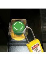 Couvercle pour bouton-poussoir et interrupteur rotatif installé