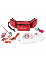 Group safety lockout kit, electrical focus with Zenex™ thermoplastic padlocks
