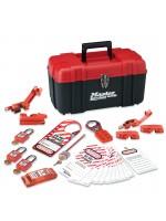 Boîte à outils de consignation personnelle, spécial électricité avec cadenas thermoplastiques Zenex™