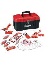 Personal safety lockout toolbox, electrical focus with Zenex™ thermoplastic padlocks
