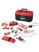 Boîte à outils de consignation personnelle, spécial vannes et électricité avec cadenas thermoplastiques Zenex™