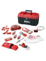 Personal safety lockout toolbox, valve & electrical focus with Zenex™ thermoplastic padlocks