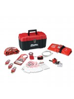 Personal safety lockout toolbox, valve focus with Zenex™ thermoplastic padlocks