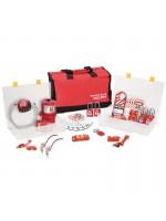Kit pour consignation de groupe, spécial électricité avec cadenas thermoplastiques Zenex™
