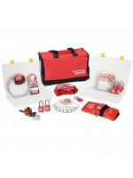 Group safety lockout kit, valve focus with Zenex™ thermoplastic padlocks