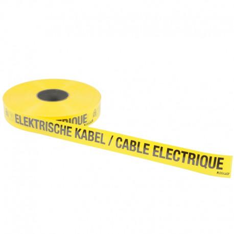 Underground warning tape Elektrische kabel / Cable electrique - BINAME