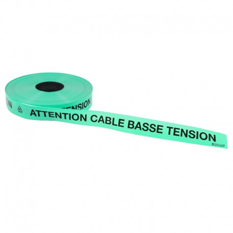 Ruban avertisseur souterrain Attention cable basse tension