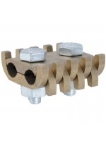 Comb cable holding clamps in brass - 2 bolts - diameter 3 to 5 mm - (cross section 7 à 19 mm²)