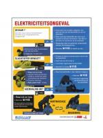 Affiche premiers soins aux électrisés en Néerlandais