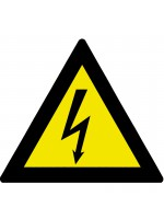 Triangular PVC panel electrical danger side 200 mm