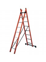 Insulating combined extension ladder - 2 elements