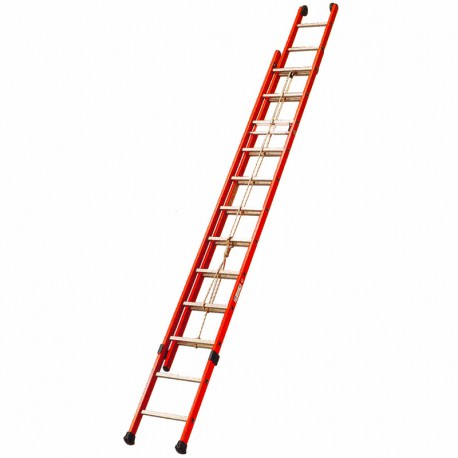 Insulating Double Extension Ladder With Rope Biname