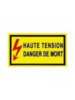 Panneau PVC Haute Tension danger de mort 350x200mm