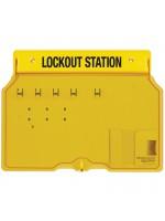 Plastic 4 Lock Padlock Station