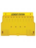 Plastic 10 Lock Padlock Station
