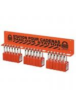 Porte-cadenas pour usage intensif pour 18 à 22 cadenas