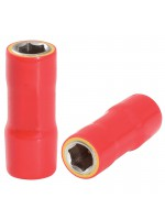 Insulated 6-point socket for 1/4''
