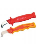 Insulated cable stripping knife