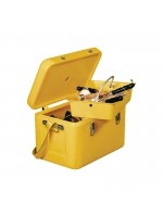 High visible yellow trunk-box for tools