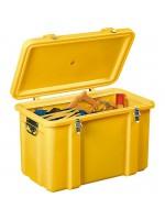 Coffre de chantier haute visiblité jaune pour outillage
