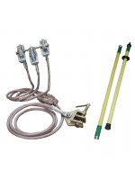 Short circuiting and grounding equipment for bare overhead lines