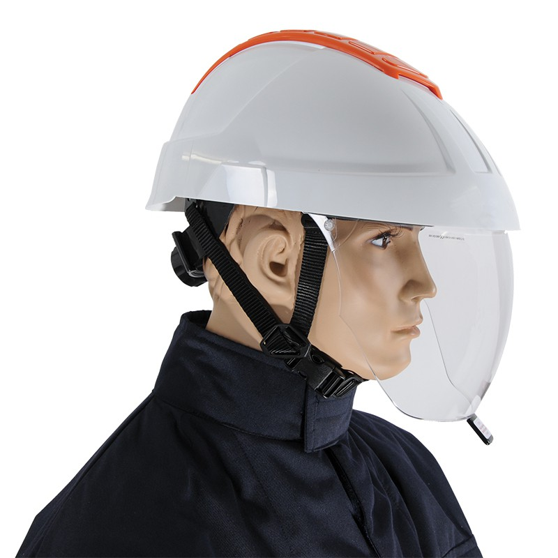Hard Hat With Integrated Faceshield Biname