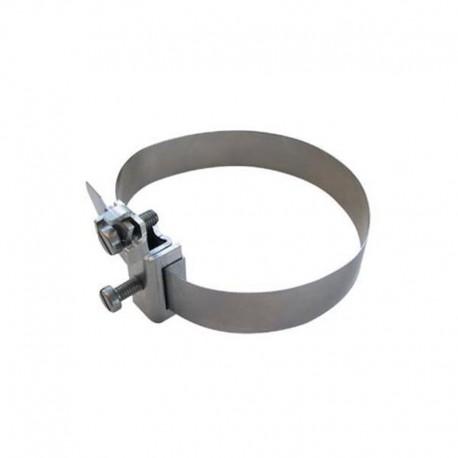 """Collier équipotentiel en inox pour canalisations de 1/8"""" à 1-1/2"""" (Ø10 à 52 mm)"""