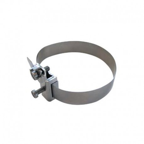 Earth clamp band in stainless steel for 1/8'' to 1-1/2'' (10 to 52 mm)